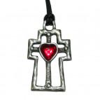 Amulet kříž planoucího srdce
