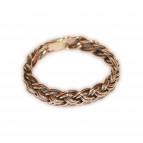 Bronzový proplétaný prsten