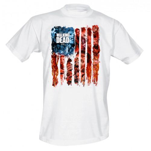 Tričko Walking Dead - Walker Flag Montage