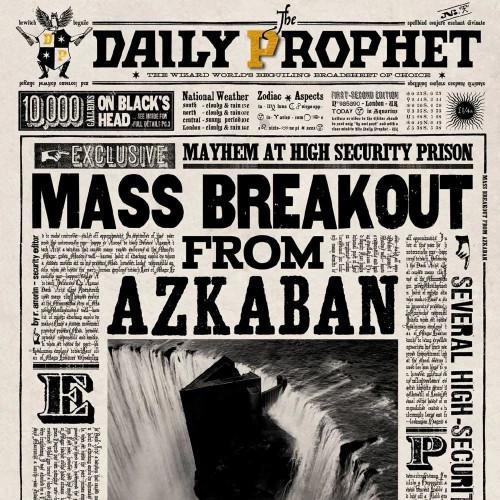 The Art Printorium Ltd Blahopřání Harry Potter 3D - Útěk z Azkabanu