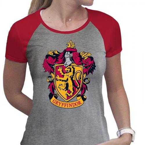 ABYstyle Dámské tričko Harry Potter - Nebelvír, barva šedá, velikost M
