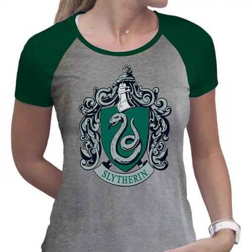 ABYstyle Dámské tričko Harry Potter - Zmijozel, barva šedá, velikost XL