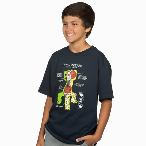 Dětské tričko Minecraft Creeper Anatomy