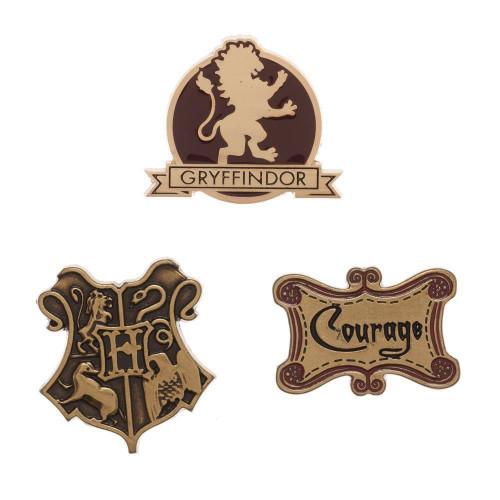 Sada odznaků Harry Potter - Nebelvír, 3 ks
