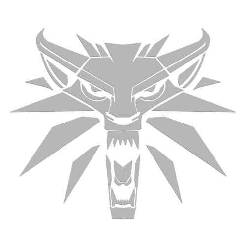 Samolepka Zaklínač 3: White Wolf