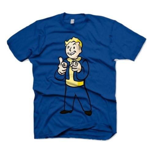 Gaya Entertainment Tričko Fallout Nuka Vault Boy Charisma, barva modrá, velikost XXL
