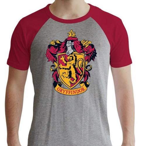 ABYstyle Tričko Harry Potter - Nebelvír, barva šedá, velikost S