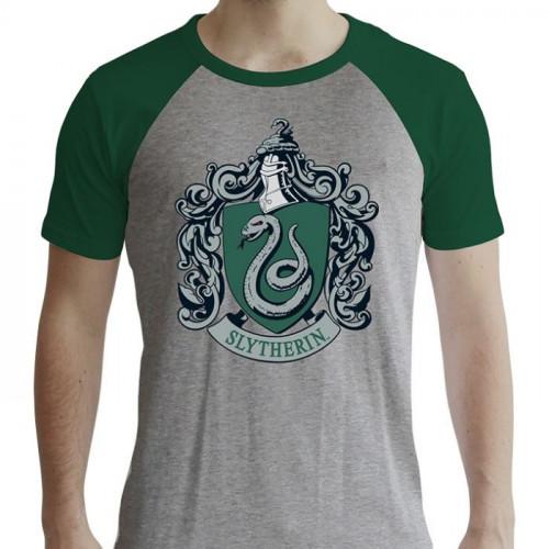 ABYstyle Tričko Harry Potter - Zmijozel, barva šedá, velikost XL