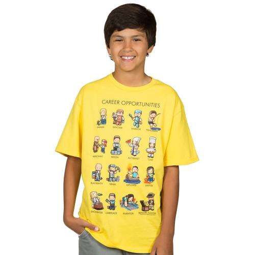 Dětské tričko Minecraft Career Opportunities