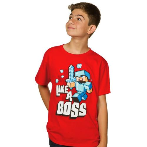 Dětské tričko Minecraft Like a Boss