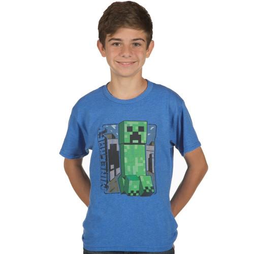 Dětské tričko Minecraft Vintage Creeper