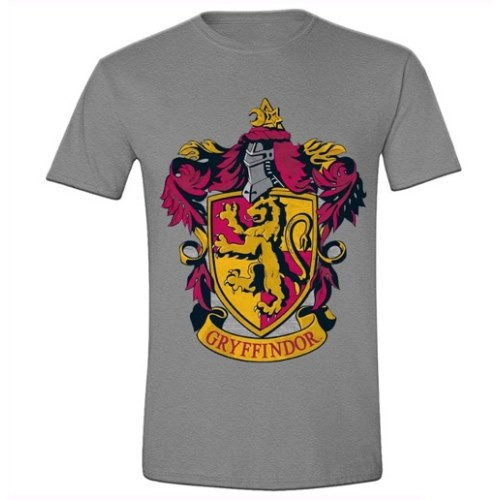 Tričko Harry Potter - znak Nebelvír (šedé)