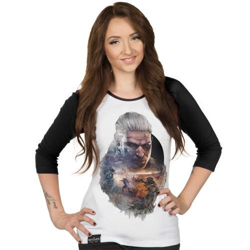Tričko Zaklínač 3: Geralt - dámské, dlouhé rukávy