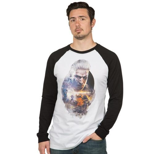 Tričko Zaklínač 3: Geralt - pánské, dlouhé rukávy