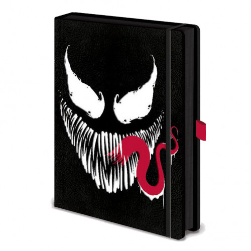 CurePink Poznámkový blok A5 Marvel: Venom Face 14,8 x 21 cm SR72707