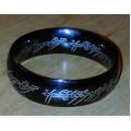 Jeden prsten černý (nerez)