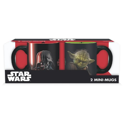 Mini hrnky Star Wars Vader vs Yoda (2 ks)