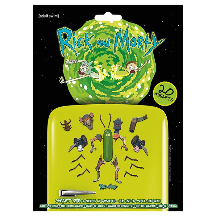 Sada magnetek Rick and Morty - Weaponize the Pickle (20 ks)